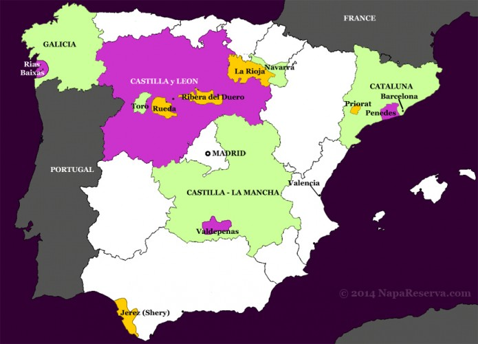 Spain-wine-map