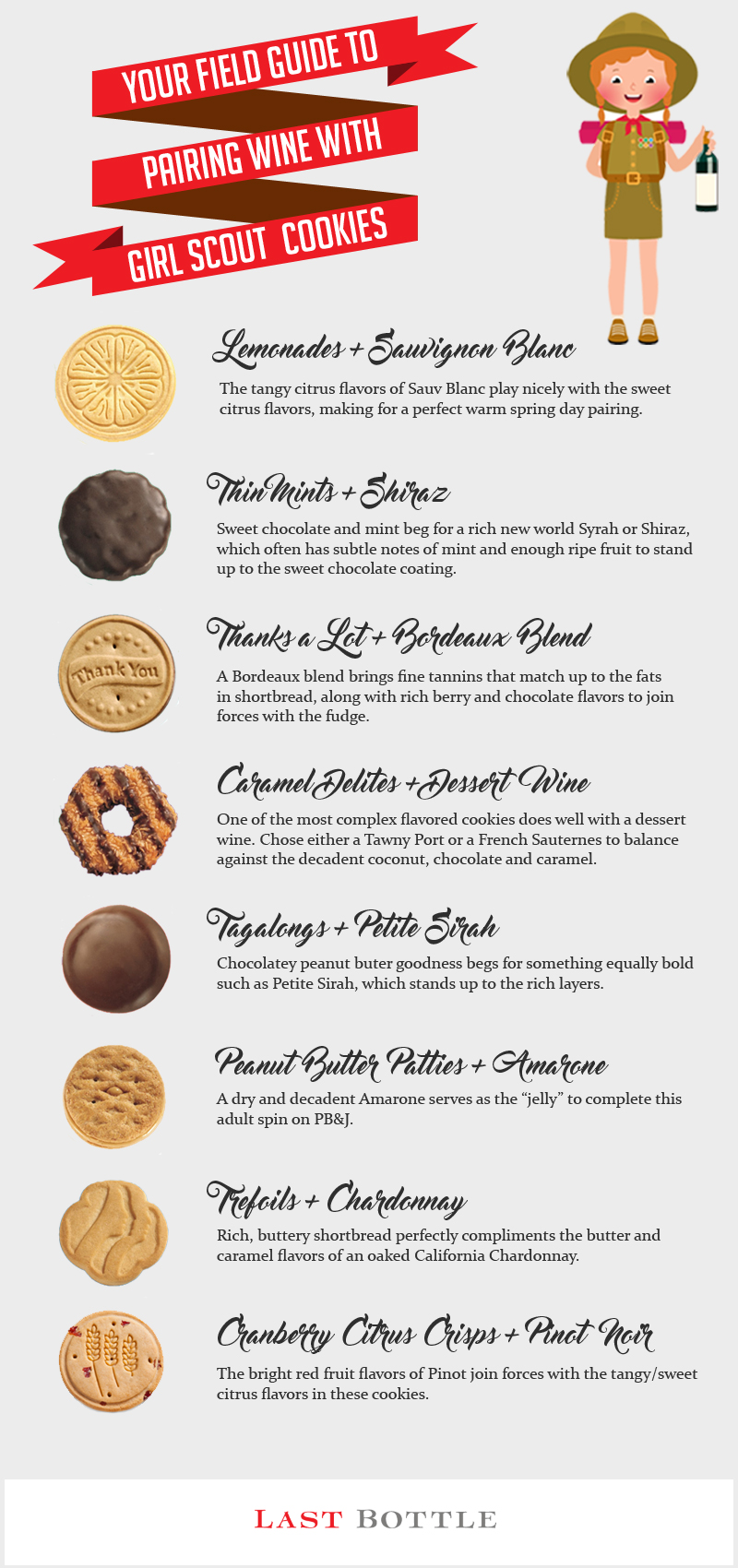 Girl scout cookies wine pairing