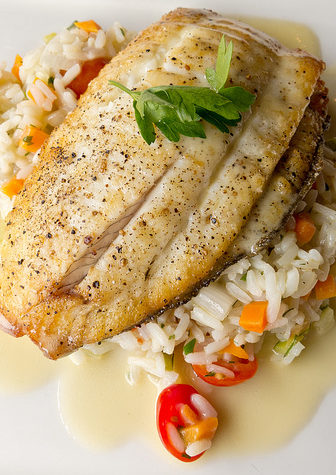 White wine sauces work great with just about any kind of white fish. Photo via Flickr