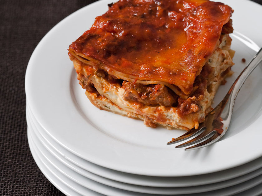 Winter wine and food pairings: Brunello and Lasagna (image from FOOD & WINE)