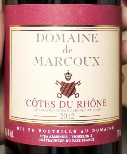 Domaine de Marcoux Cotes du Rhone 2012