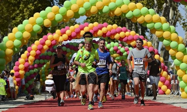 The Marathon du Medoc is not for those with weak stomach. Photo: AP