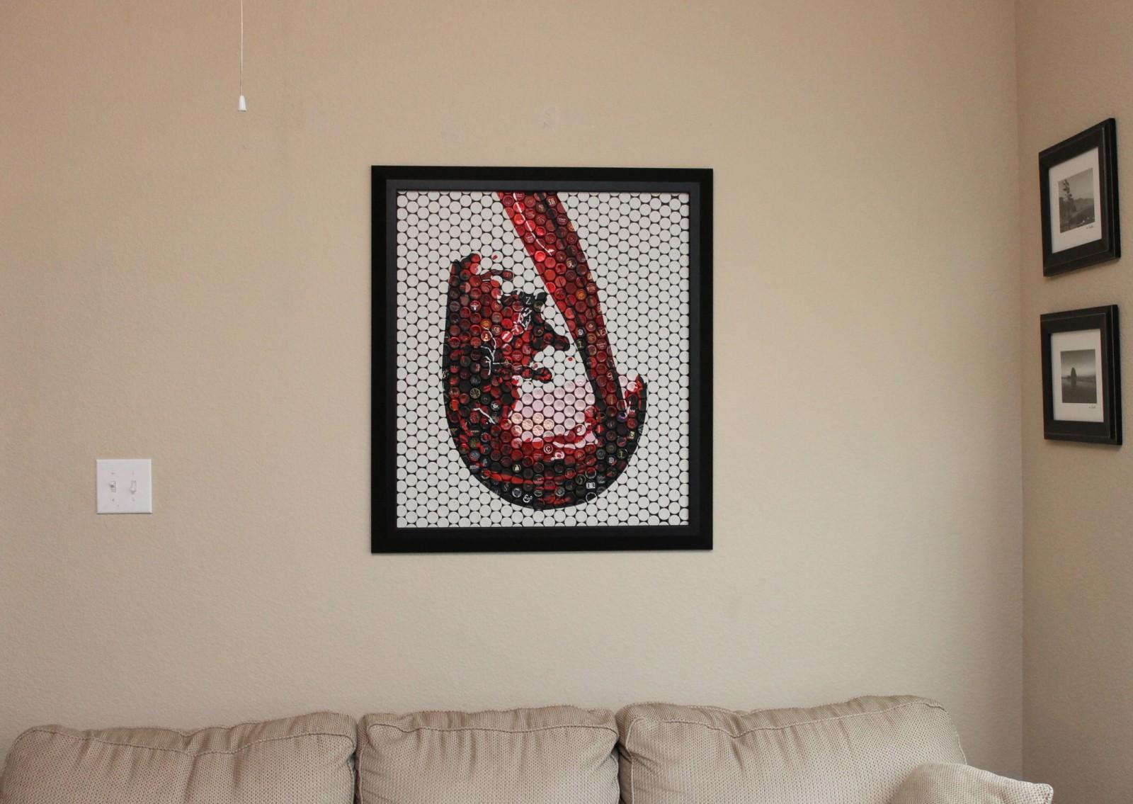 When wine inspires art. The story of Ryan Sorrell's stunning vinomosaics.