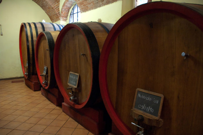 "Barolo is traditionally aged in large ""botti"" or Slavonian oak barrels. photo credit"