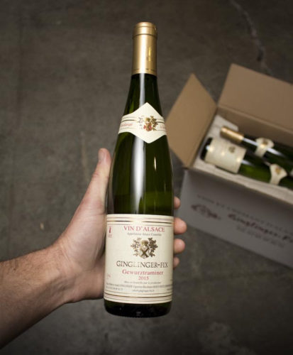 This Ginglinger Gewürztraminer that we import is a textbook example, with all the lychee and spice you'd expect.
