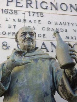 Dom Perignon Statue
